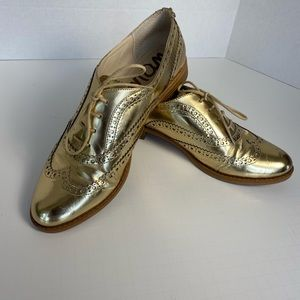 Sam Edelman Gold Oxford Shoes